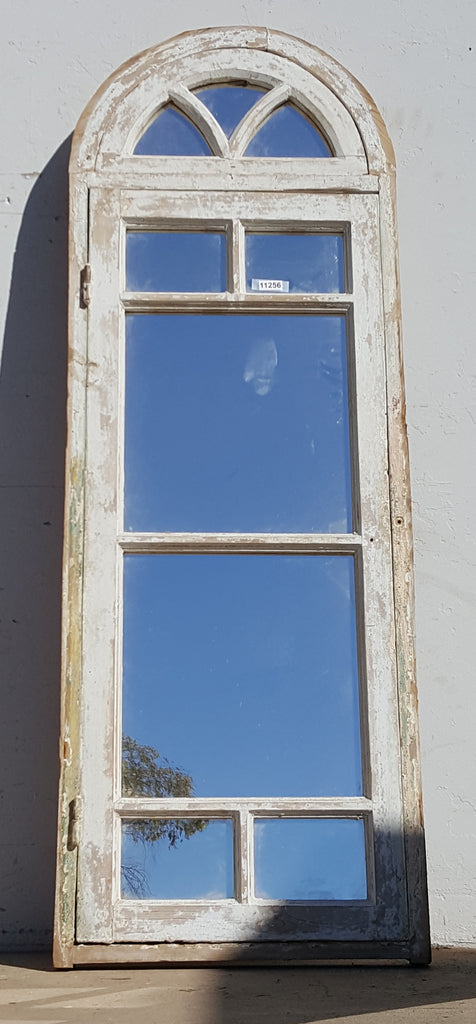 Wooden Mirrored Window with 9 Panes