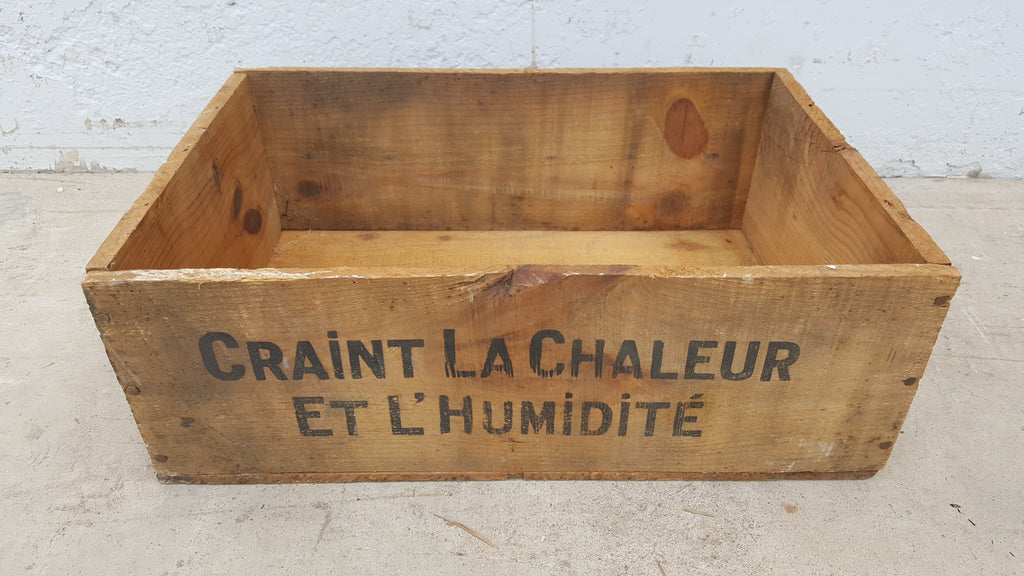 Wooden French Crate