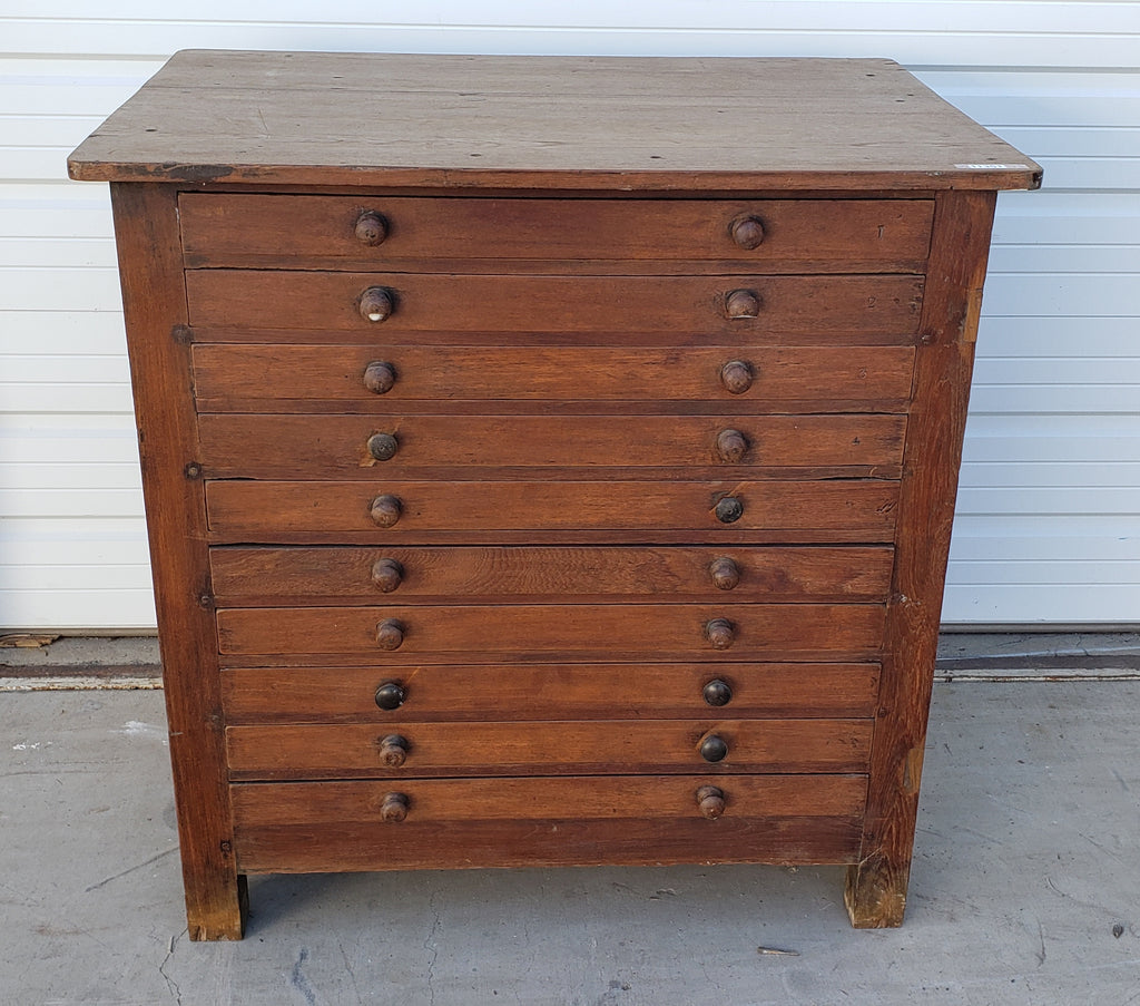 10 Drawer Wood Printers Cabinet
