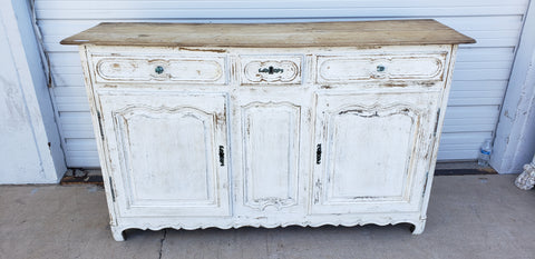 Antique French White Sideboard c. 1880