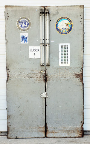 Pair of Metal Factory Doors