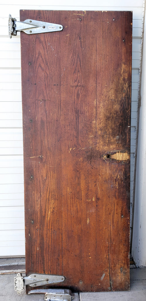 Vintage Walk-In Freezer Door