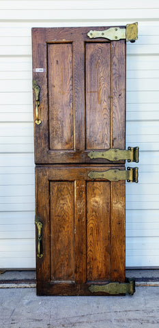 Wooden Refrigerator Doors with Bronze Hardware