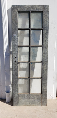 10 Pane Galvanized Metal Door
