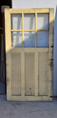 6 Pane Wooden Barn Door