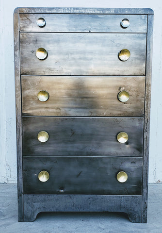 Stripped Metal Dresser