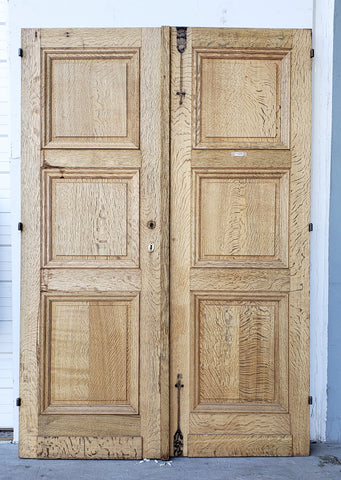 Pair of Wood Doors from Belgium