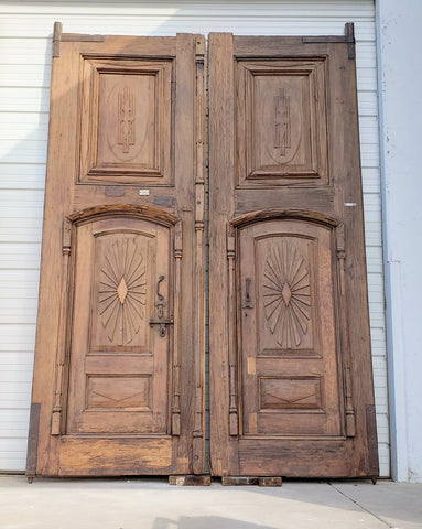 Pair of Wooden Carved Doors