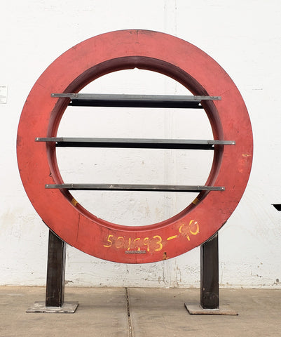 Red Industrial Foundry Mold Display Shelving Unit