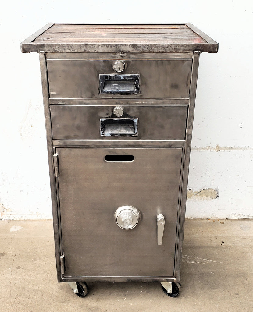 Stripped Diebold Safe on Casters