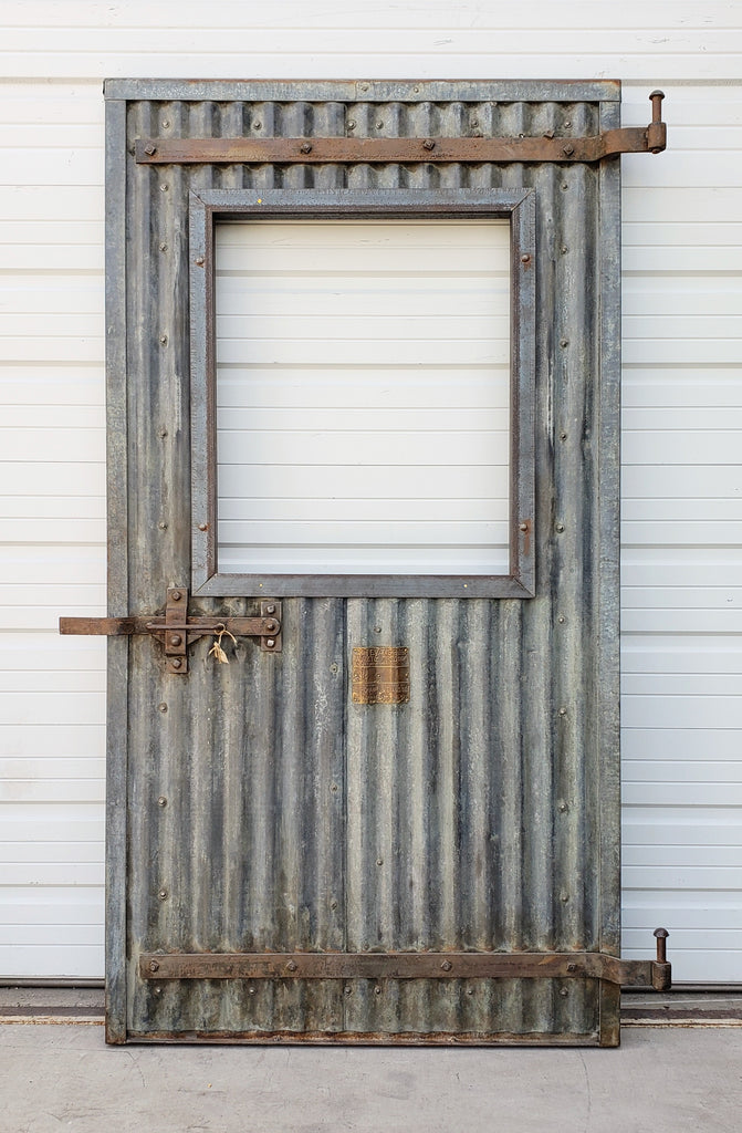 Half Lite Single Corrugated Metal Door