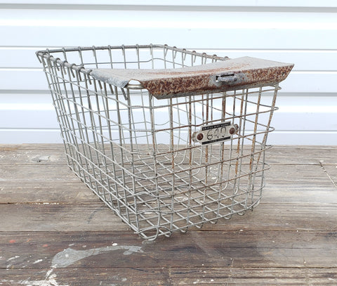 Vintage Swim Locker Basket