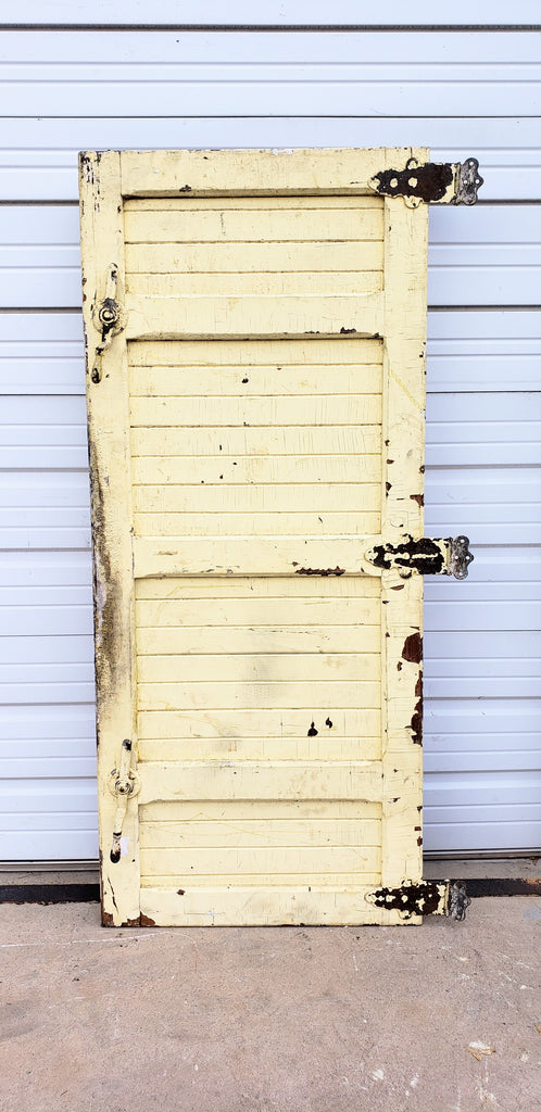 4 Panel Yellow Single Freezer Door