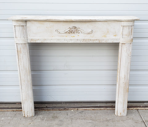 White Column Fireplace Mantel