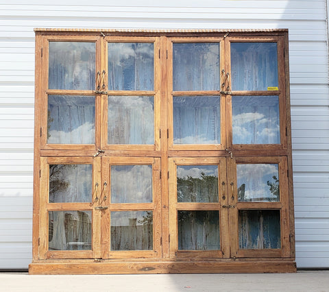 Antique Wood and Glass Display Case