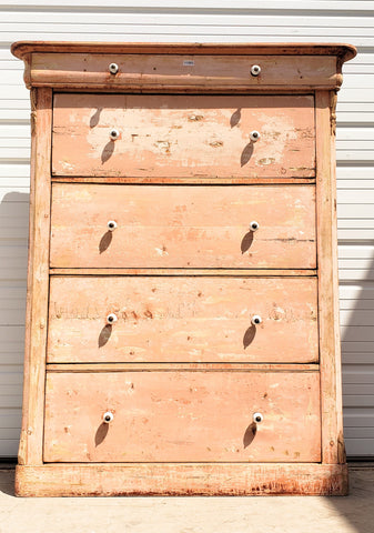 5 Drawer Antique Chippy Paint Dresser