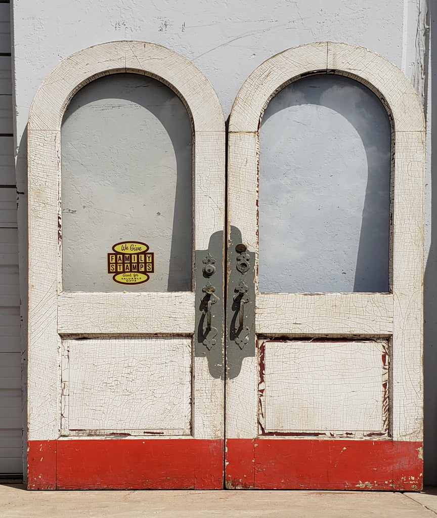 Pair of Painted Arched Doors