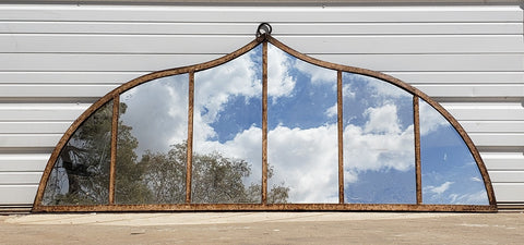 Iron Ventilator / 6 Pane Decorative Arched Mirror