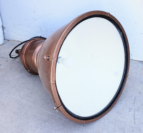 Industrial Copper Colored Pendant Factory Light