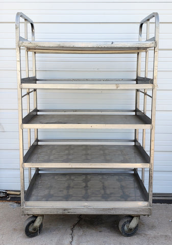 Rolling Aluminum Bakers Rack/Shelves