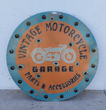 Lighted Metal Motorcycle Parts Sign