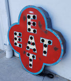 Lighted Metal EAT Sign