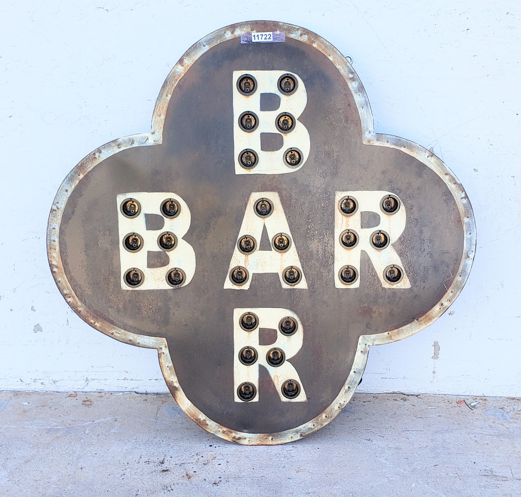 Lighted Metal Bar Sign