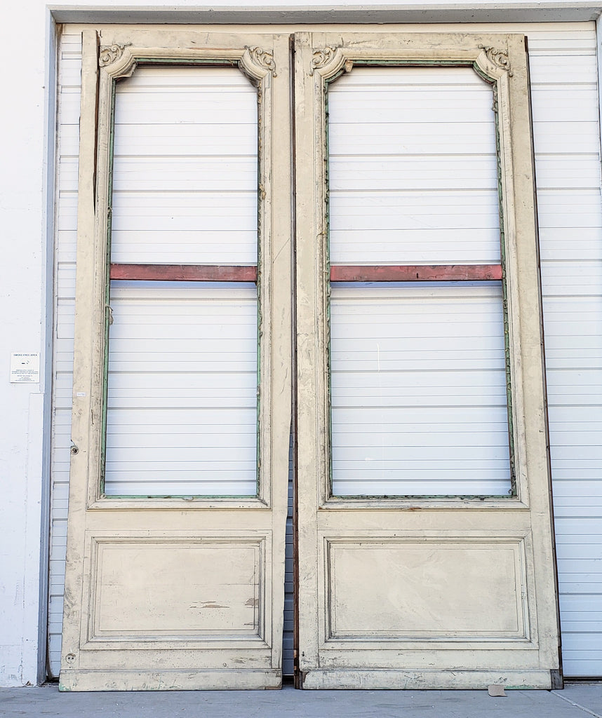 Pair of Windowed French Doors