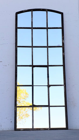 18 Pane Iron Mirror
