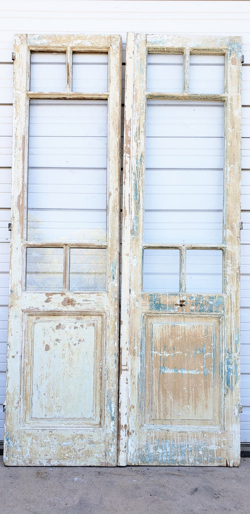 Pair of French Doors with 5 Glass Panes