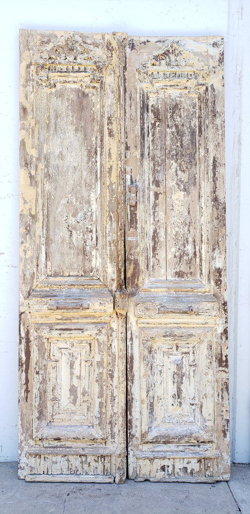 Carved Painted Wooden Doors