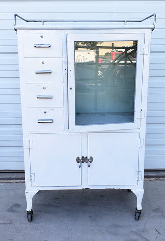 White Medical Display Cabinet
