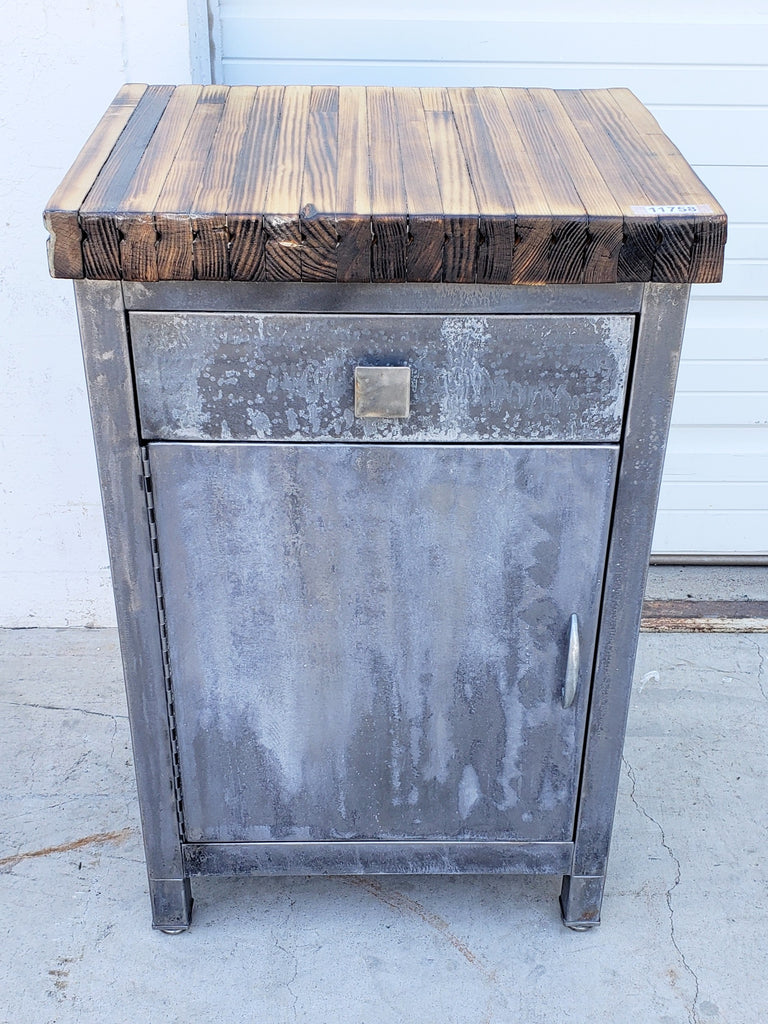 Repurposed Simmons Cabinet Side Table