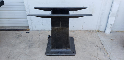 Buffed Industrial Table Base