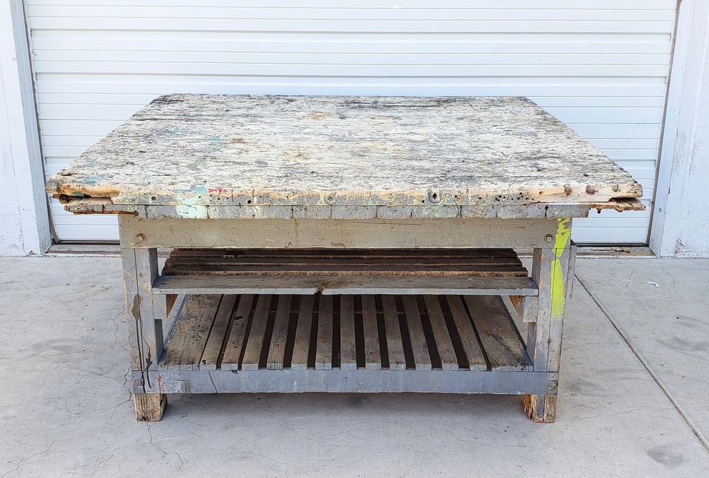 Old Paint 2 Level Work Table