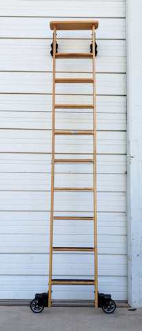 Library Ladder with Wheels