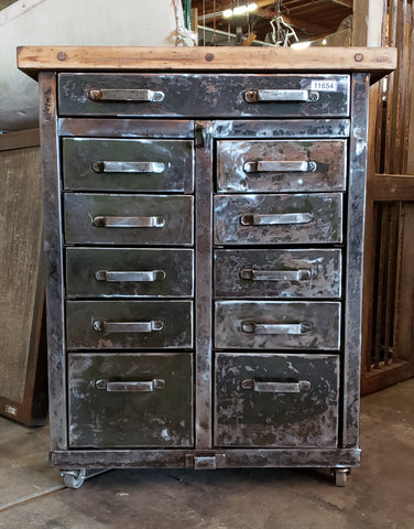 11 Drawer Industrial Cabinet on Casters