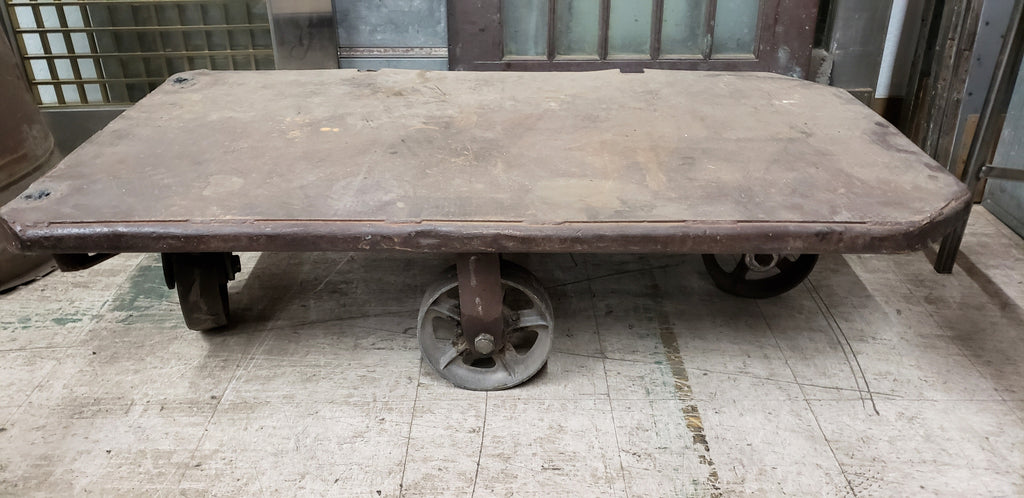Industrial Iron Coffee Table Trolley