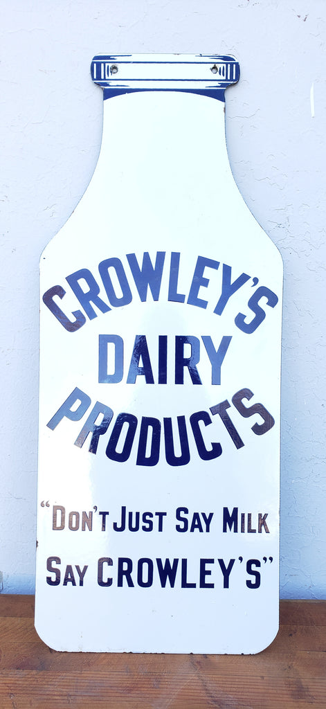Crowley's Dairy Products Sign