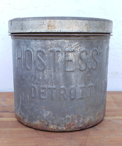 Metal Ice Cream Bucket, Hostess / Detroit