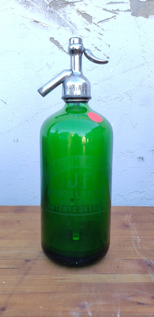 Green Seltzer Bottle