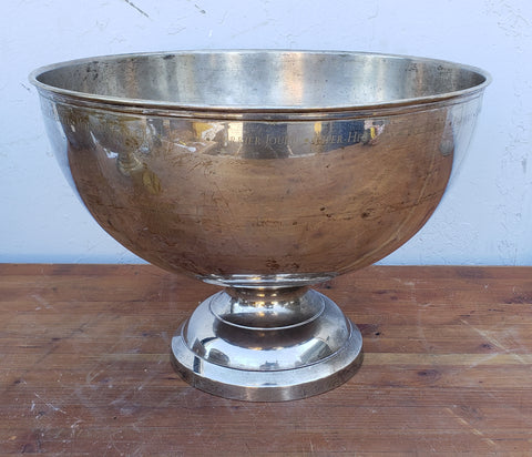 Silver Bowl with Champagne Brands