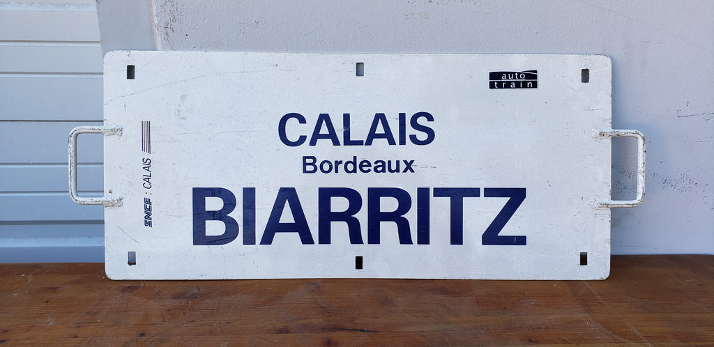 French Train Sign