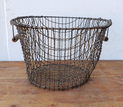 French Wire Basket with Handles