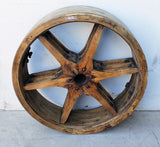 Wooden Wheel / Cog with 6 Spokes