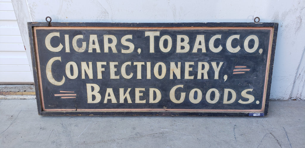 Cigars, Tobacco, Confectionary and Baked Goods Sign