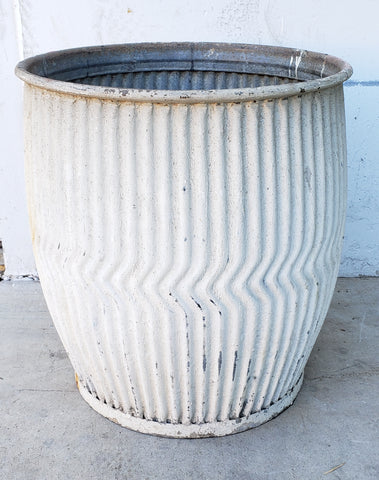Antique Galvanized Dolly Tub Planter