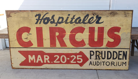 Circus Sign Double-Sided