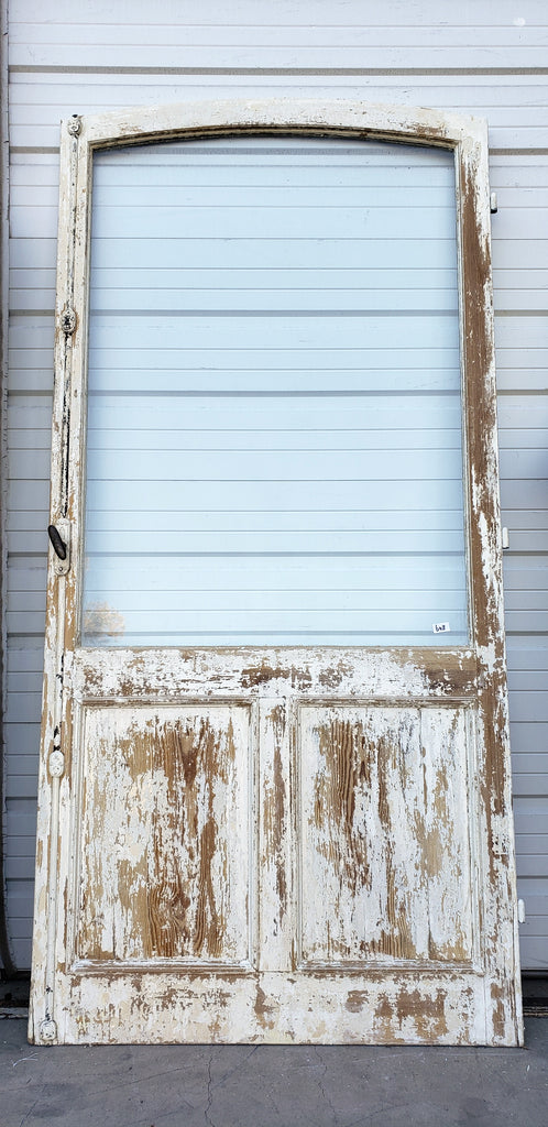 Wood Door with Large Single Glass Pane