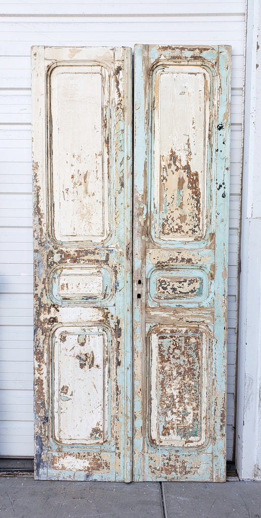 Pair of Washed Wooden Doors